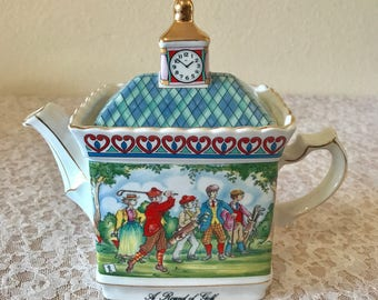 """Retro Windsor Teapot """"A Round ofGolf"""" theme"""