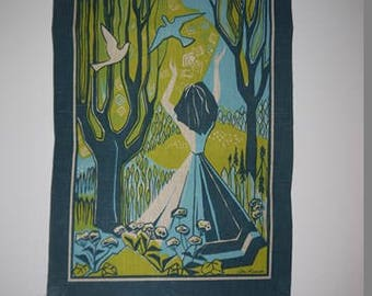Wall Hanging - Small Tapestry - Ilse Roempke - Sweden - RETRO 1950/1960