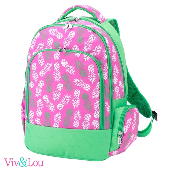 Pineapple backpack parker paisley bookbag embroidered bookbag paisley backpack back to school girls backpack monogrammed backpack