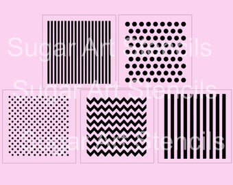 Starter pack bundle cookie stencils stripes polka dot chevron SPCK5