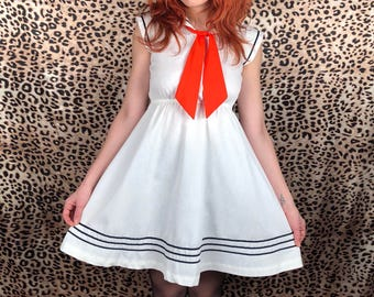 Vintage 1960's Sailor Dress Small