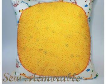 Cushion - Giraffe w/Orange Spots