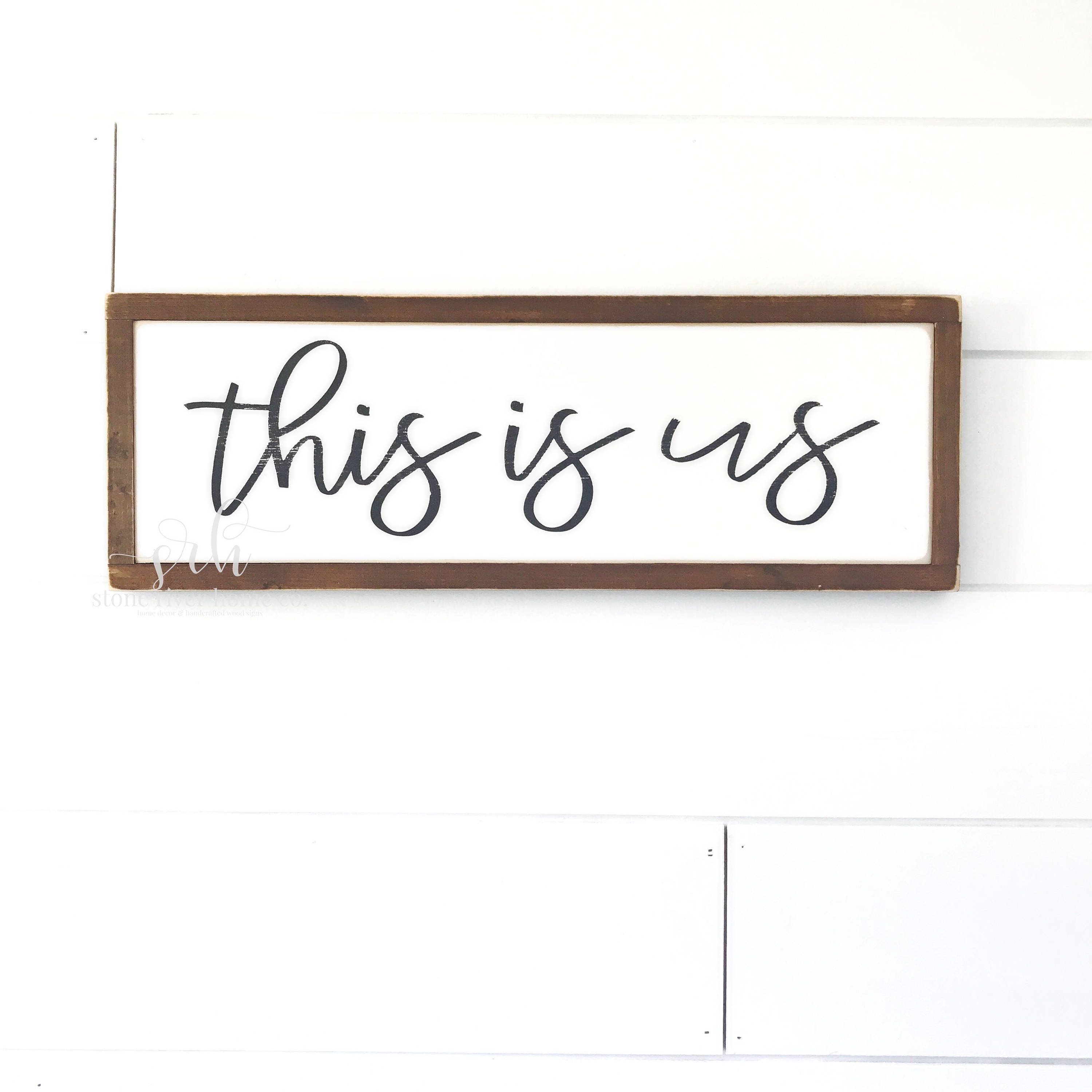 This Is Us Painted Wood Sign Farmhouse Decor Home Decor