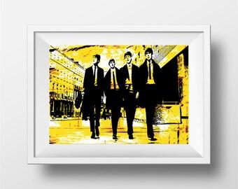 Beatles poster Print, Beatles sgt peppers art print