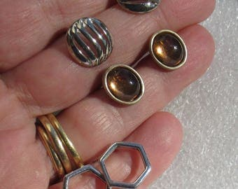 Lot Of Retro Diminutive Pierced Earrings