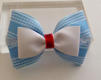 Dorothy Wizard of Oz Inspired Hair Bow.
