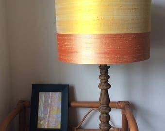 Pure silk lampshade yellow&peach
