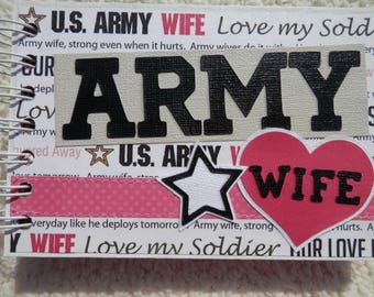 4x6 US Army Wife Chipboard Mini Scrapbook