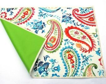 oilcloth placemat / desk mat / time base / desk pad