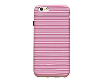 Pink and white candy stripes, phone case for an iPhone 6 or iPhone 6 Plus