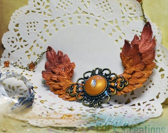 Winged Necklace OOAK