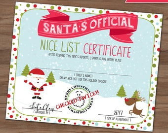 Checked twice etsy nice list certificate santa claus making a list checking it twice letter from spiritdancerdesigns Gallery