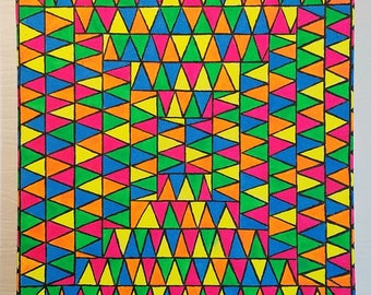 12 x 12 Triangles Painting
