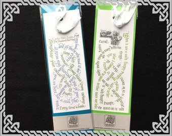 Calligraphic Celtic Knot Bookmarks