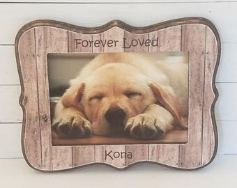 Personalized dog frame - pet frame - dog memorial - cat memorial - pet remembrance - dog remembrance - pet loss gift - personalized pet gift