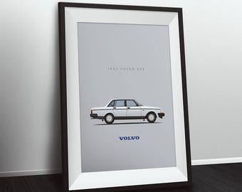 "1992 Volvo 240 - 8""x10"" Print - Multiple Colors"