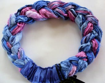 Oh so pretty mix of pinks and blues in my Sari Silk Braided headband! Soft and comfortable fit too!