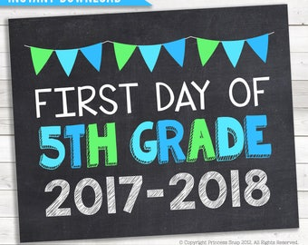 Effortless image with first day of 5th grade printable