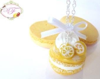 Lemon macaroon necklace