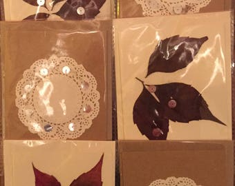 Pack of Six Handmade Greeting Cards