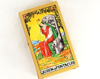Vintage 1990 Universal Waite Tarot Reading Card Deck with Instructions 78 cards