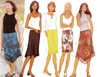 Butterick Pattern 6944 FLOUNCED/FRINGED SKIRTS  Misses Sizes 6 8 10
