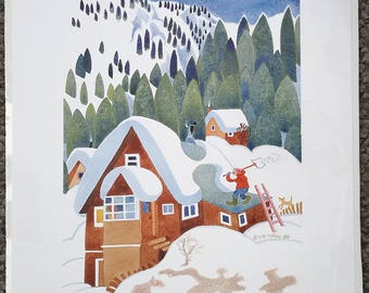 "Alaskan Artist Rie Munoz ""Snow Removal, Starr Hill"" Limited Edition Print"
