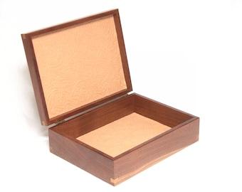 Felt lined Walnut Box