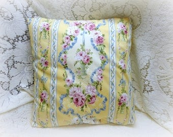Shabby Chic Vintage Laura Ashley LYSETTE Pillow Slipcover Yellow