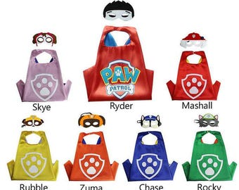 Paw Patrol capes and felt masks