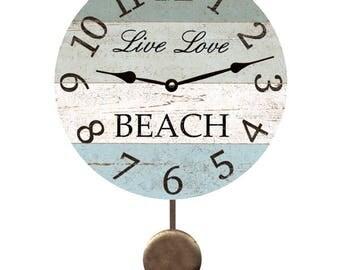 Live Love Beach Pendulum Clock