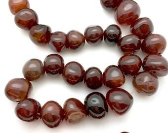Carnelian Bead, guru bead, 10-16mm