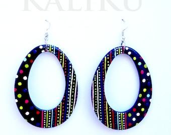 hand painted earrings, happypainted earrings, earrings, drop earrings, earrings, earrings