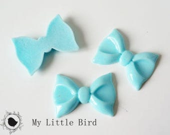 2 x 29x21mm BLUESKY bow resin Cabochons