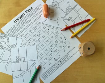 Harvest Time Printable Game / Farm Game / Maths Game / Children's Games