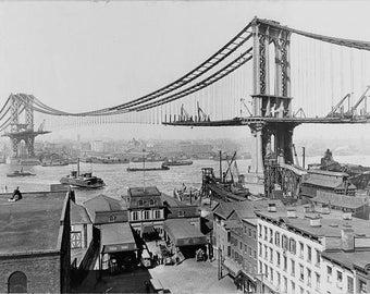 1909 Manhattan Bridge Construction, New York City