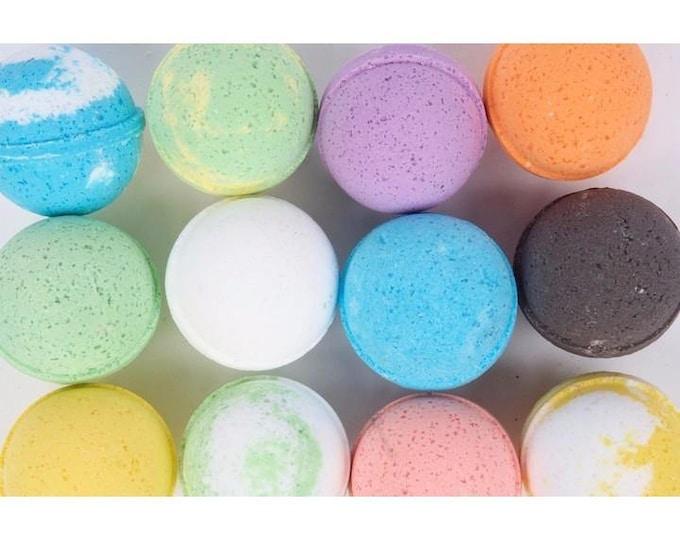 Fragrant Bath Bombs, 12 Pack Premium 4.5 oz. Bathbombs, Handmade Bath Fizzie, Vegan Bath Fizzy, Bath Bomb Gift Ideas, Bath Fizzer, Bathbomb