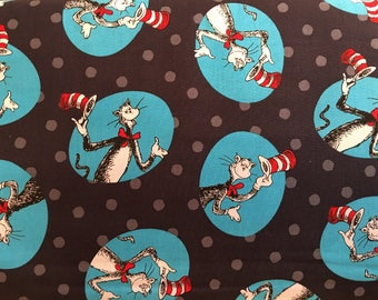Dr. Seuss The Cat In The Hat fabric by Robert Kaufman fabric #17013