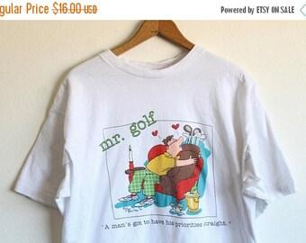 ON SALE XLARGE Vintage 1990 Mr. Golf Jim Benton Graphic T-Shirt