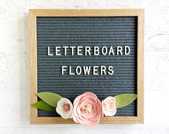 Felt Letter Board Flowers - Add-ons for Felt Letter Boards - Decor for Parties, Showers and Every Day