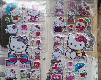 hello kitty sticker etsy. Black Bedroom Furniture Sets. Home Design Ideas