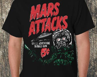 Mars Attack!  Black Tee