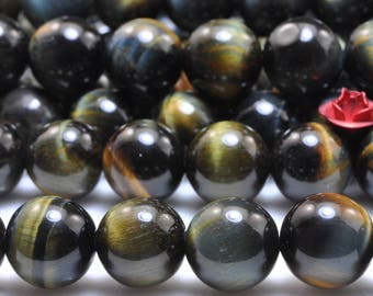 38 pcs of Tiger Eye smooth round beads in 10mm