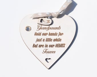 The only thing better than having you as my MUM is having you as my children's Grandma Quote on Heart Gift Hanging Decoration Shabby Chic