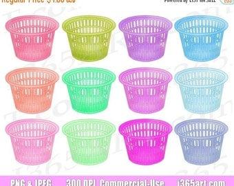 50% OFF Laundry Basket clipart, laundry basket clip art, baskets, rainbow, clothes baskets, planners, PNG digital clipart, commercial