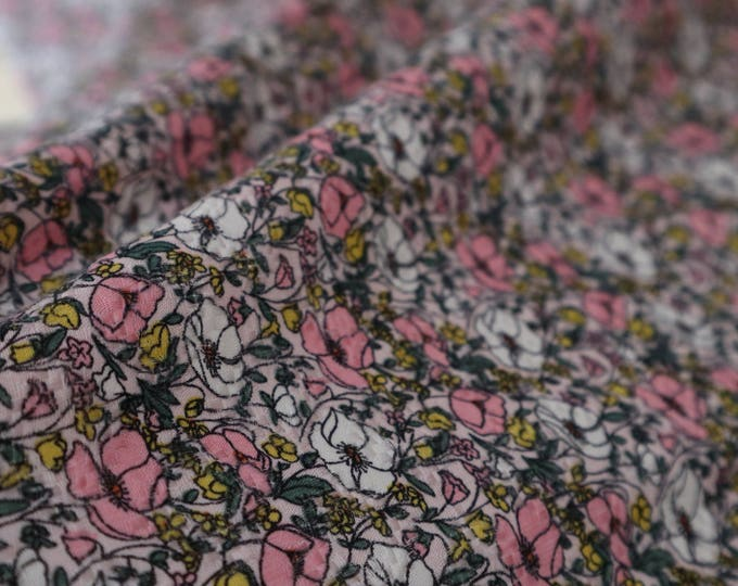 Textured Rayon Floral