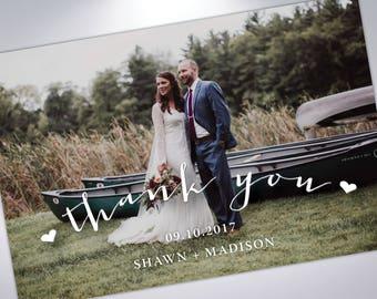 Thank You Postcards | Wedding Thank You Card | Custom Message | Wedding Photos | Wedding Postcards | Thank You