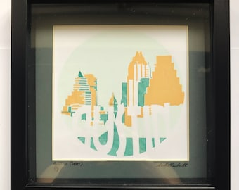 Austin Skyline Screen Print