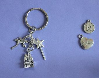 Angel Keyring or Bag Charm,Angel Charm,Fairy Castle Keyring,Gift for Fairy,Gift for Girl,Fairy Charm,Stocking Filler,Secret Santa