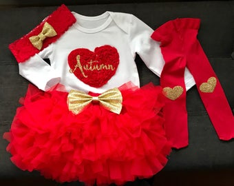 Valentines Day Outfit Baby Girl | 1st Valentine's Day outfit | Baby Girl Valentines Day Outfit | My first Valentine's Day outfit